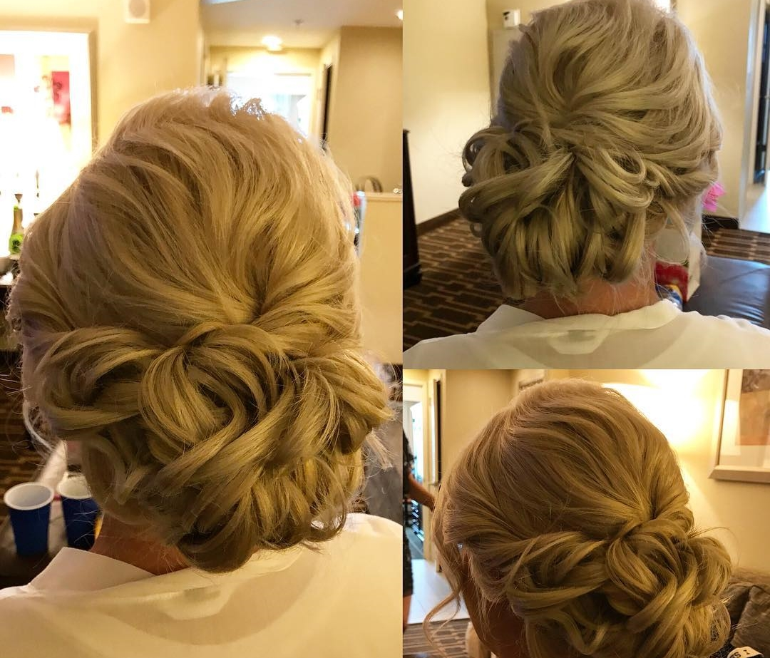 Loose Updo for Romantic Cruise Wedding