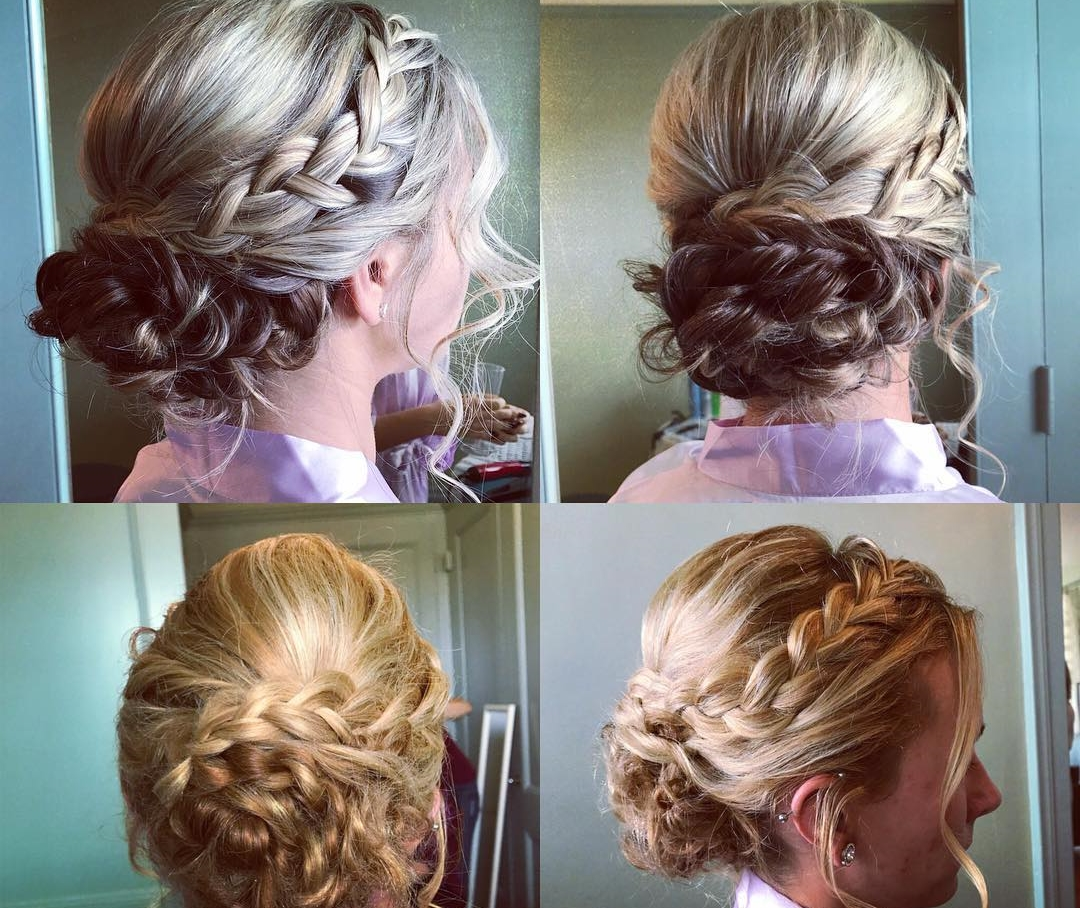 Popular - French braids with messy updo
